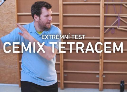 Extrémní test omítky Cemix TETRACEM