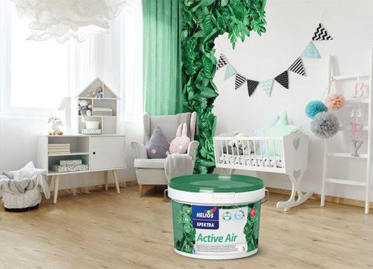 Helios: SPEKTRA Active Air – interiérová barva s funkcí čištění vzduchu