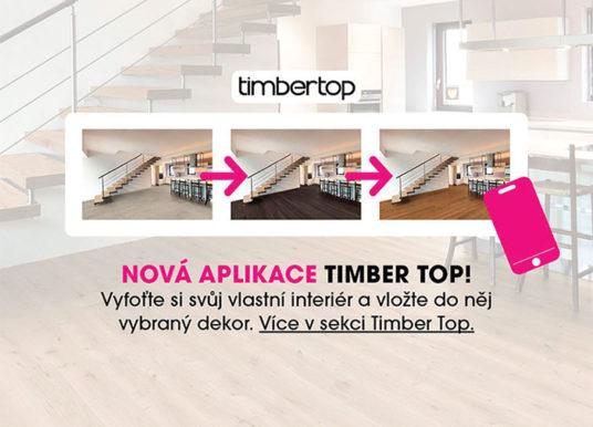 Aplikace ROOM PLANNER, pomocník při výběru dřevěné podlahoviny značky Timber Top