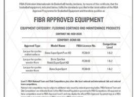 Nový certifikát FIBA pro Bona Sportive System