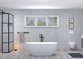 Black design by Sapho. Černá barva do koupelny patří.