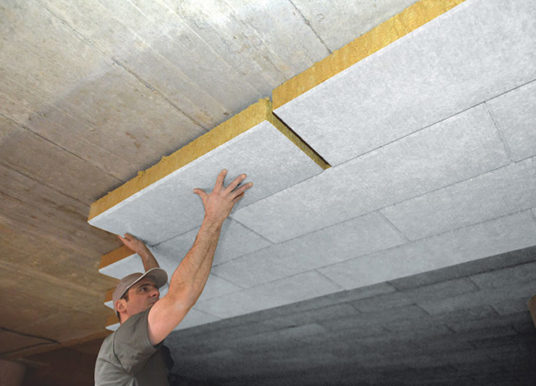 Zateplení garáže materiálem ISOVER TOP V Final