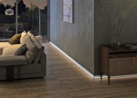 Cubica Light System 80, světelná lišta Döllken pro všechny typy podlah