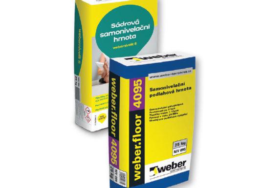 WEBERNIVELIT S a WEBERFLOOR 4095 – nivelační hmoty Weber na bázi síranu vápenatého